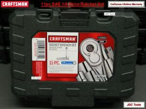 Craftsman Tools 11 Pc 1 4 Drive Sae Ratchet Socket Set W Case