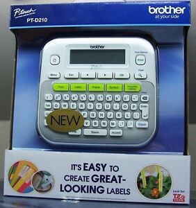 New Brother P touch Pt d210 Label Maker Labeler