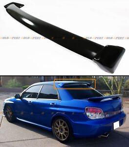 Glossy Painted Blk Oe Style Rear Roof Spoiler Wing For 02 07 Subaru Impreza Wrx
