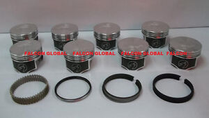 Speed Pro Trw Oldsmobile Olds 350 W31 Forged Flat Top Pistons Moly Ring Kit Std