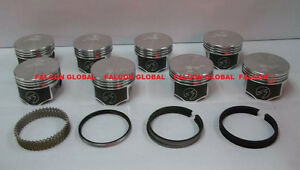 Speed Pro 350ci Oldsmobile Olds 350 W31 Forged Flat Top Pistons Moly Rings Std