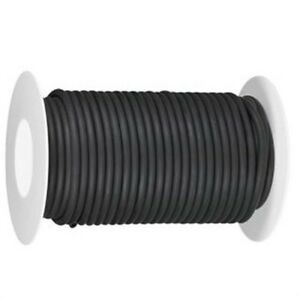 50 Continuous Feet 1 8 I d X 1 16 W 1 4 O d Natural Latex Rubber Tubing Black