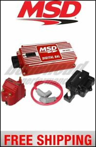 Msd Ignition Super Hei Kit With Digital 6al Blaster Ss Coil Hei Adtr And 8 5mm