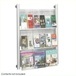 Safco Luxe 9 Pocket Magazine Rack In Silver