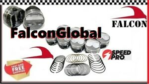 Speed Pro Chevy 350 5 7 Hypereutectic Coated Dome Pistons moly Rings 10 7 1 030
