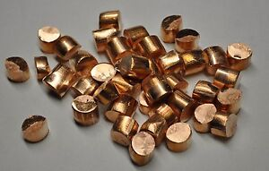Pure Copper 99 99 5 Pound Lots Slugs Plating Anodes Nugget Ofhc Casting