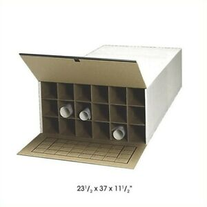 Filing Cabinet File Storage Tube stor Kd 18 Compartment Roll 6 Or More In White