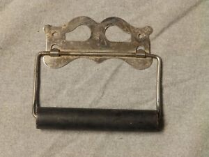 Vtg Chrome Metal Toilet Tissue Paper Holder Old Bathroom Lavatory Fixture 244 16