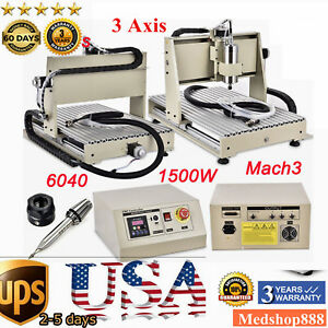 1 5kw Engraver Machine 3 Axis 6040 Cnc Router Engraving Milling Desktop Cutter