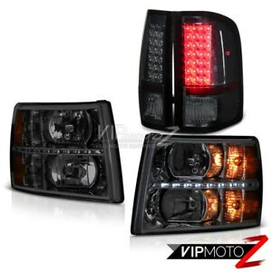 2007 2013 Silverado Lt Smoked Headlights Led Drl Taillights Oe Style brightest