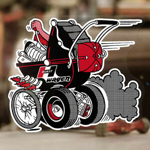 Hurst Baby Buggy Sticker Decal Old School Stroller Drag Racing Rat Hot Rod 5
