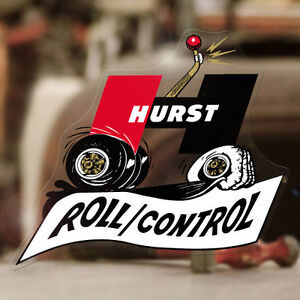 Hurst Roll Control Sticker Decal Old School Shifter Mopar Rat Hot Rod 5 5