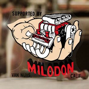 Milodon California Sticker Decal Hot Rod V8 Blower 427 Small Big Block Hemi 4
