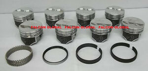 Federal Mogul Trw H660cp Std Pistons Moly Rings 327 Chevy Set Of 8