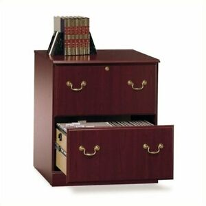 Filing Cabinet File Storage Executive 2 Drawer Lateral Bbf In Cherry