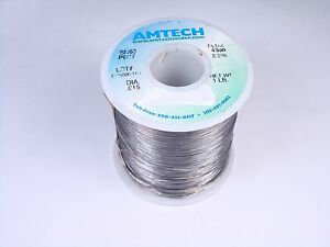 4300 Amtech Solder Wire Sn63 Pb37 Tin Lead 015 2 2 Flux Core 13oz Partial