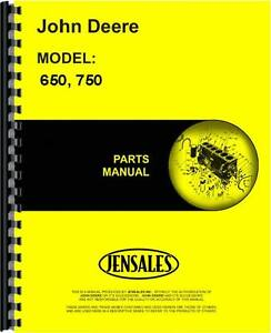 John Deere 650 750 2 4 Wheel Drive Tractor Parts Manual jd p pc1873