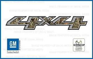 Set Of 2 2014 2018 Gmc Sierra 4x4 Decals Realtree Max4 Camo Stickers Bed Gm