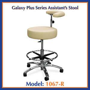 Galaxy 1067 r Round Seat Dental Assistant s Hygienist Stool Chair W Ratchet Arm