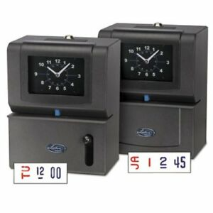 Lathem Time Heavy Duty Time Clock Mechanical Charcoal lth2121