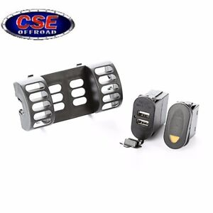 Ac Vent Switch Pod 1 Switch Dual Usb Connector For Jeep Wrangler Tj 1997 2006