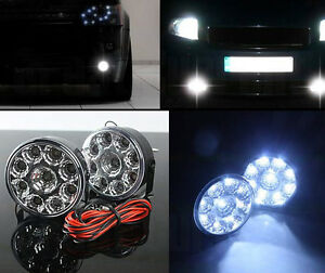 2 Car 9 Led 12v Circle Daytime Running Driving Light Drl Round Fog Work Lamp Suv
