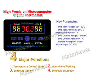 Dc 12v 10a Multifunction Digital Temp Regulate Temperature Controller Thermostat