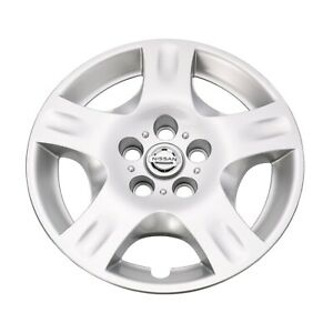 2002 2004 Nissan Altima 16 Silver 5 Spoke Rim Hub Cap Wheel Cover Oem Hubcap