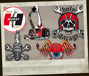 6 Hot Rod Sticker Decals Of Your Choice Rat Hurst Holy Garage Screenprint C1