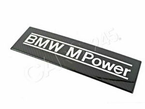 Genuine Bmw E39 E52 Roadster Bmw M Power Air Collector Emblem Oem 11611407044