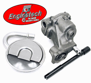 Chevy Sbc 327 350 400 High Pressure Oil Pump W Pickup Screen Hd Steel Drive