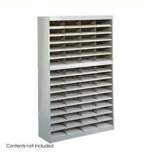 Safco E z Stor Grey Mail Organizer 60 Letter Size Compartments