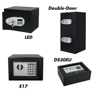 Digital Keypad Home Office Safe Box Electronic Security Cash Steel 0 5 Cubic Ft