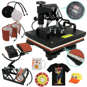 6in1 12 X 15 Clamshell Heat Press T shirt Digital Transfer Sublimation Machine
