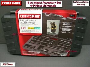 Craftsman 8pc Impact Extension And Pinless Universal Tool Accessory Set In Case