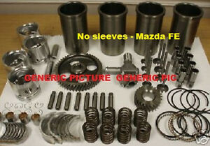 Mazda Fe Engine Kit Gas Hyster Forklift 2 0 1998cc Pistons Gaskets Valves Deluxe