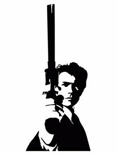 Clint Eastwood 2 Sticker Vinyl Decal Dirty Harry Magnum Force Enforcer Impact