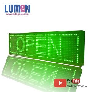 8 X 27 Green Indoor Programmable Led Scrolling Sign Moving Message Window P10