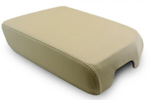 Center Console Armrest Leather Synthetic Cover For Toyota Tundra 07 13 Beige