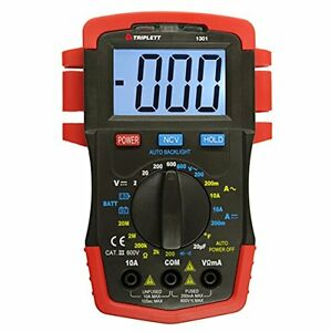 Triplett 1301 Compact Digital Multimeter With Backlit Lcd 22 Measurement Ranges