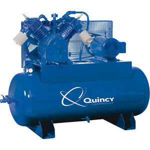 Quincy Qt 15 Pro 15hp Splash Lubricated Piston Air Compressor 460 Volt 3 Phase