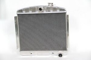 Polished Die Formed Fit 1955 56 Chevy Bel Air Nomad All Aluminum Radiator