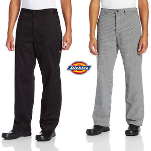 Dickies Chef Professional Chef Pants With Belt Loops Zipper Fly Dc223