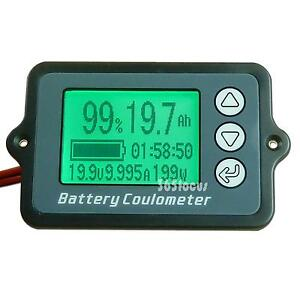 Dc9 12 24 36 48 60 72 Volt Watt Ampere Hour Digital Battery Monitor Panel Meter