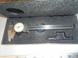 Machinist Tools Lathe Mill Starrett 6 Dial Caliper Gage Gauge In Case