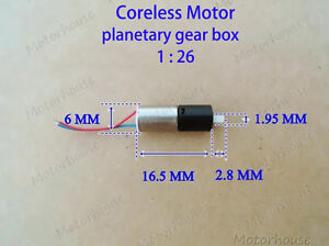 Mini 6mm Coreless Motor With Planetary Gear Motor Gearbox Motor