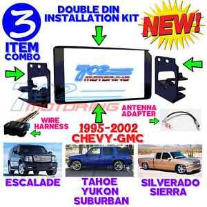 1995 2002 Gm Full Size Truck Suv Double Din Car Stereo Installation Dash Kit 3