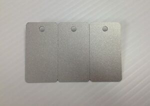3 up Breakaway Key Tags Blank Pvc Silver Cards Cr80 30mil Pack Of 500 1500 Tags