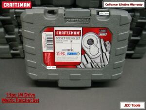 New Craftsman 11 Pc Metric 6 Pt Socket Wrench Set 1 4 Drive