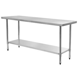24 X 72 Stainless Steel Work Prep Table Commercial Kitchen Restaurant New